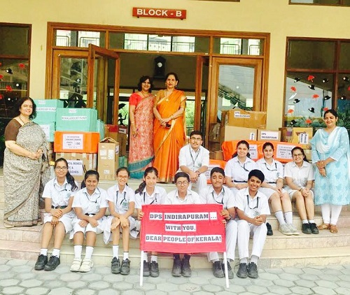 DPS Indirapuram reaches out to the Kerala Flood Victims