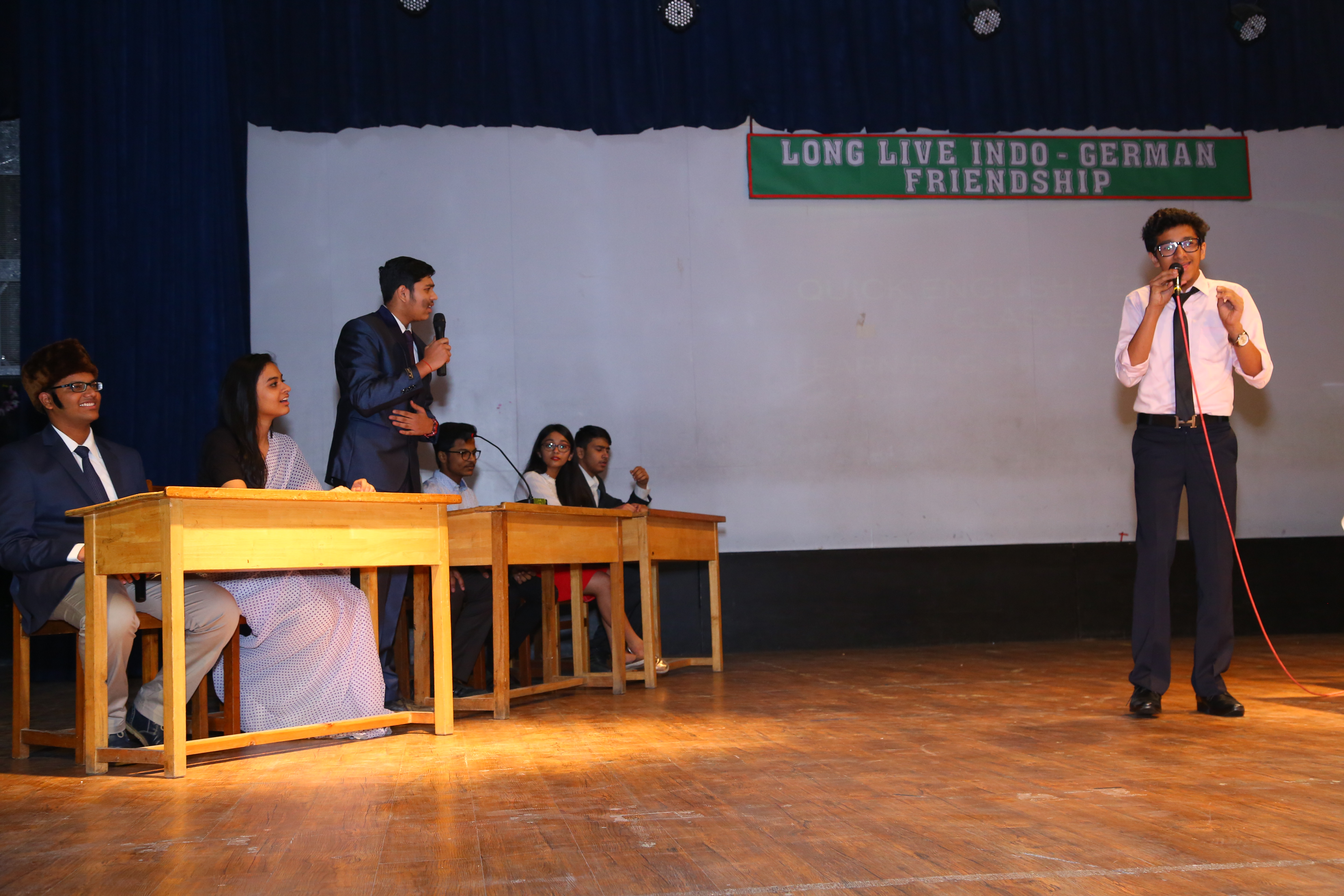 Comic Skit 'English Bol Desi Dhol' staged at DPS Indirapuram